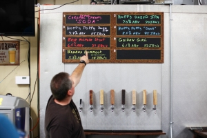 Bill Shaw Cobra Brewing Neil MacCuish brewer tap room menu
