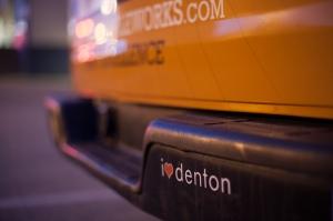 Armadillo Ale Works Van I Heart Denton