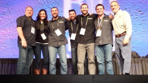 The whole Community Gang winning a 2014 GABF medal.