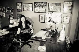 Mindy in her office